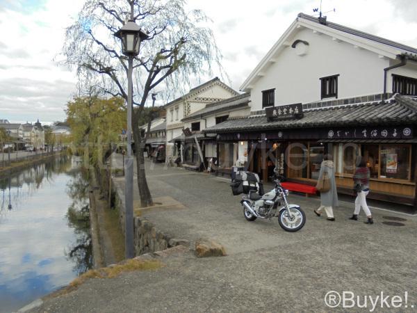 倉敷川 バイク